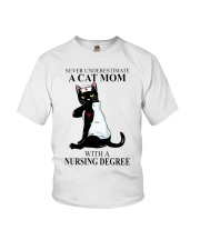 A cat mom with a nursing degree T-shirt Youth T-Shirt thumbnail
