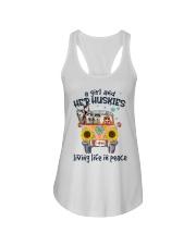Huskies living life in peace hippie Girl Ladies Flowy Tank thumbnail