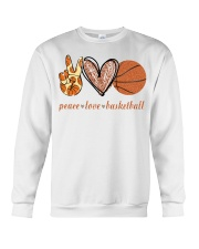 Peace love basketball shirt Crewneck Sweatshirt thumbnail