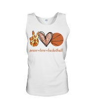 Peace love basketball shirt Unisex Tank thumbnail