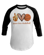 Peace love basketball shirt Baseball Tee thumbnail