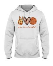 Peace love basketball shirt Hooded Sweatshirt thumbnail