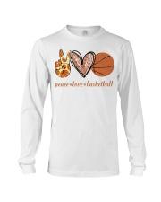 Peace love basketball shirt Long Sleeve Tee thumbnail
