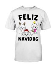 Feliz Navidog Havanese Dog Christmas shirt Classic T-Shirt thumbnail