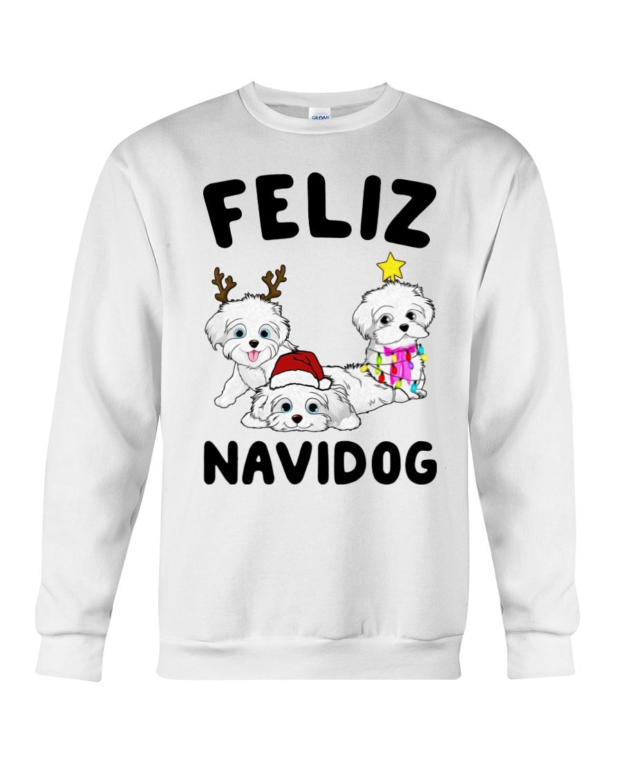 Feliz Navidog Havanese Dog Christmas shirt Crewneck Sweatshirt