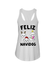 Feliz Navidog Havanese Dog Christmas shirt Ladies Flowy Tank thumbnail