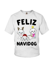 Feliz Navidog Havanese Dog Christmas shirt Youth T-Shirt thumbnail
