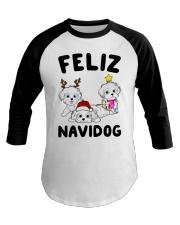 Feliz Navidog Havanese Dog Christmas shirt Baseball Tee thumbnail
