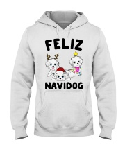 Feliz Navidog Havanese Dog Christmas shirt Hooded Sweatshirt thumbnail