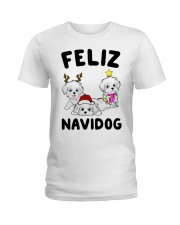 Feliz Navidog Havanese Dog Christmas shirt Ladies T-Shirt thumbnail