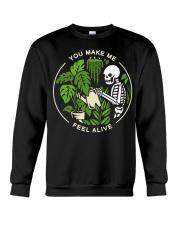 Skeleton You make me feel alive shirt Crewneck Sweatshirt thumbnail