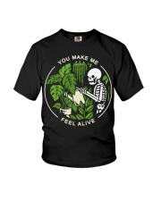 Skeleton You make me feel alive shirt Youth T-Shirt thumbnail