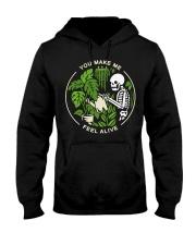 Skeleton You make me feel alive shirt Hooded Sweatshirt thumbnail