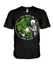 Skeleton You make me feel alive shirt V-Neck T-Shirt thumbnail