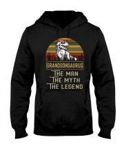 Grandsonsaurus Says the man the myth the legend  Hooded Sweatshirt tile