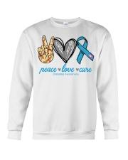 Peace Love Cure Diabetes Awareness shirt Crewneck Sweatshirt thumbnail