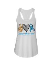Peace Love Cure Diabetes Awareness shirt Ladies Flowy Tank thumbnail