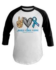 Peace Love Cure Diabetes Awareness shirt Baseball Tee thumbnail