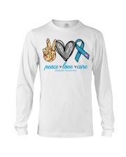 Peace Love Cure Diabetes Awareness shirt Long Sleeve Tee thumbnail