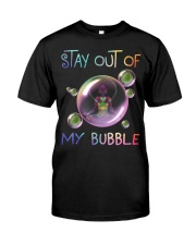 Black Girl Yoga Stay out of my bubble T-shirt Classic T-Shirt front