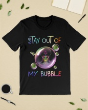 Black Girl Yoga Stay out of my bubble T-shirt Classic T-Shirt lifestyle-mens-crewneck-front-19
