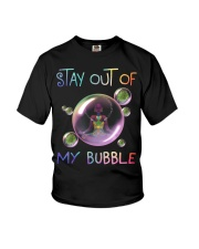 Black Girl Yoga Stay out of my bubble T-shirt Youth T-Shirt thumbnail
