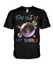 Black Girl Yoga Stay out of my bubble T-shirt V-Neck T-Shirt thumbnail