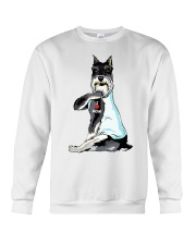 Miniature Schnauzer Tattoo I love mom shirt Crewneck Sweatshirt thumbnail