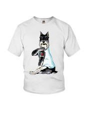 Miniature Schnauzer Tattoo I love mom shirt Youth T-Shirt thumbnail