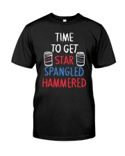 TIME TO GET STAR SPANGLED HAMMERED Classic T-Shirt front