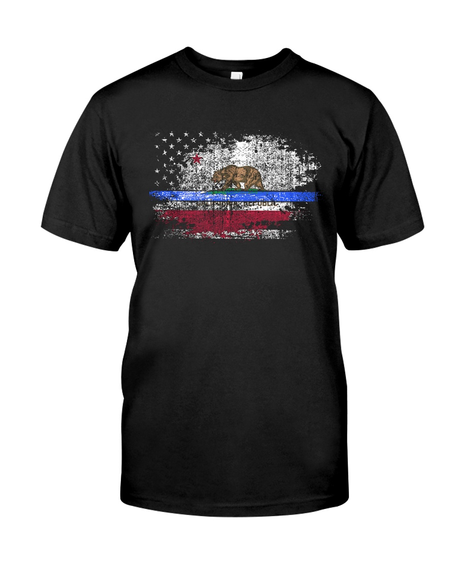 California Thin Blue Line Flag Classic T-Shirt