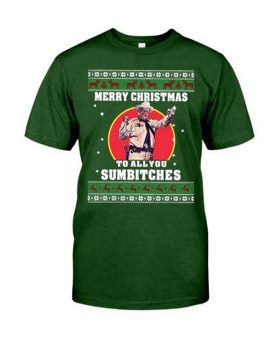 Merry Christmas - Sumbitches - Front Printed