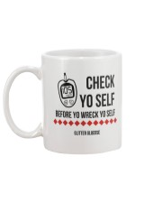 Check Yo Self Mug back