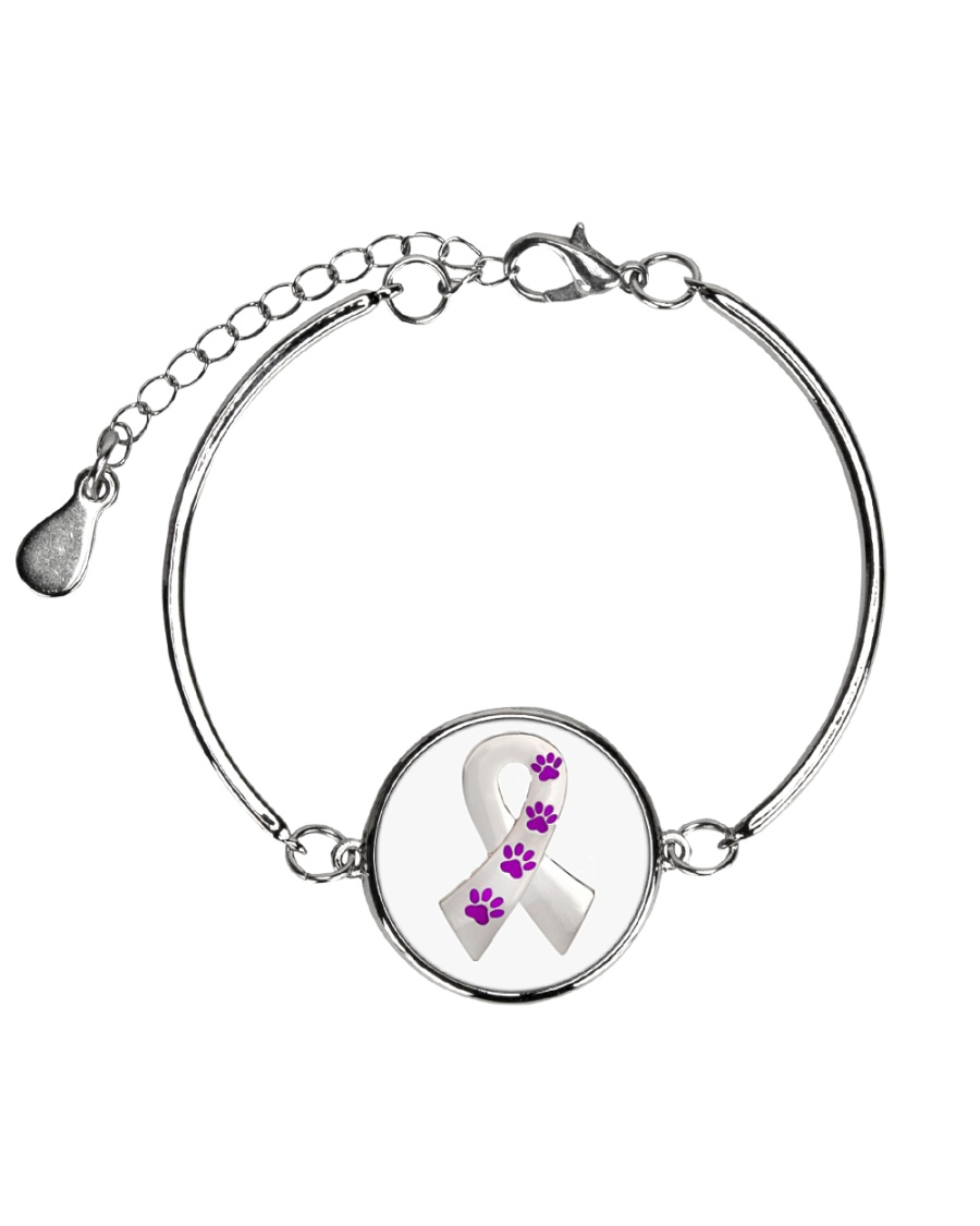 Animal Abuse Awareness Metallic Circle Bracelet