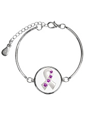 Animal Abuse Awareness Metallic Circle Bracelet front