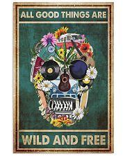 Hippie Skull  11x17 Poster front