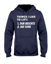 Things I like to lift Hooded Sweatshirt tile