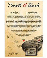 Paint It Black 11x17 Poster front