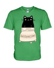Anti Depressant V-Neck T-Shirt front