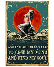 Mermaid And Into The Ocean I Go To Lose Mind 11x17 Poster front