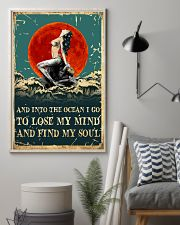 Mermaid And Into The Ocean I Go To Lose Mind 11x17 Poster lifestyle-poster-1