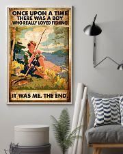 Fishing Boy Retro  11x17 Poster lifestyle-poster-1