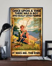Fishing Boy Retro  11x17 Poster lifestyle-poster-2