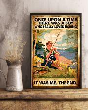 Fishing Boy Retro  11x17 Poster lifestyle-poster-3