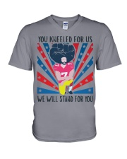 We Will Stand For You  V-Neck T-Shirt front