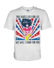 We Will Stand For You  V-Neck T-Shirt tile