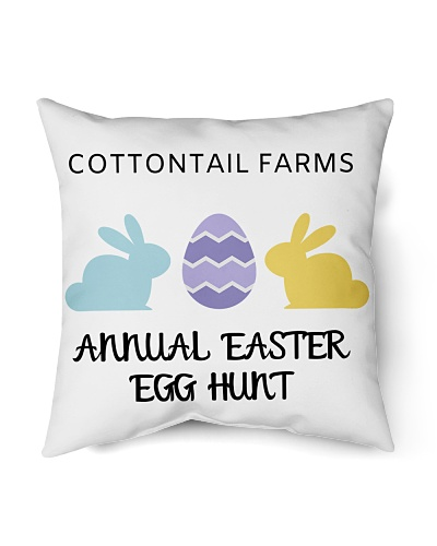 Cottontail Farms Easter Egg Hunt Pillow