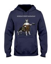 Siberian Husky Barbarian Hooded Sweatshirt thumbnail