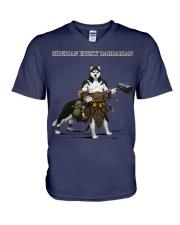 Siberian Husky Barbarian V-Neck T-Shirt thumbnail