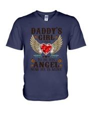 Angel Dad V-Neck T-Shirt thumbnail